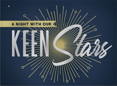 A Nicght with our KEEN Stars logo
