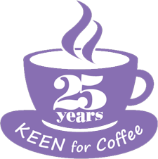 25 Years KEEN for Coffee Logo
